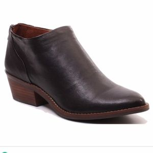 Lucky Brand Fai Black Leather Ankle Bootie